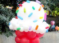 גלידת יום הולדת ענקית מבלונים